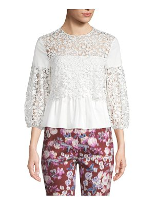 AMUR mona embroidered eyelet top