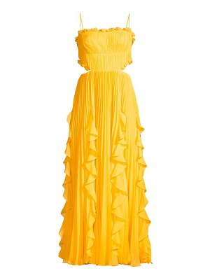 AMUR rayna ruffled tea-length dress