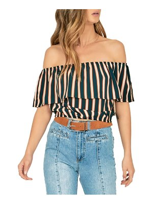 AMUSE SOCIETY between the lines off the shoulder crop top