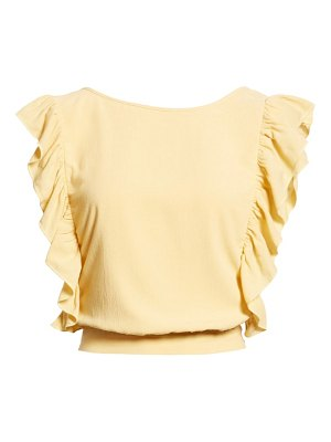 AMUSE SOCIETY go west ruffle trim top