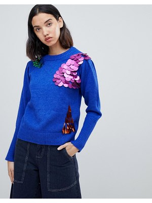 Amy Lynn sweater with sequin embellishment