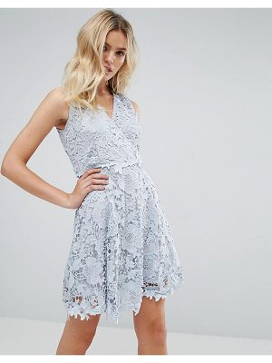 Amy Lynn Occasion Lace Wrap Over Skater Dress