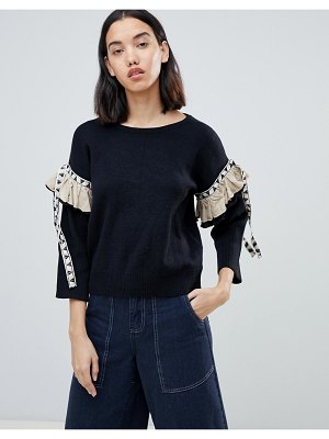Amy Lynn sweater with embellished sleeve detail