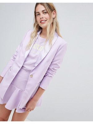 Amy Lynn Tailored Blazer With Satin Lepel