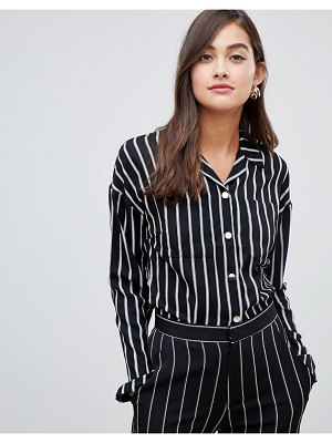 Amy Lynn tie front stripped top