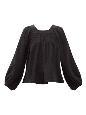 Anaak carrie mae square-neck cotton blouse