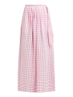 Anaak devika tie waist gingham cotton skirt