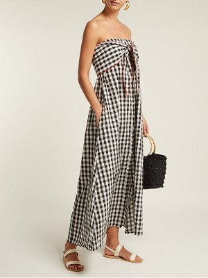 Anaak gingham-patterned cotton dress