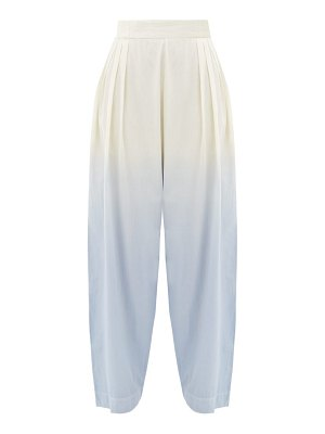 Anaak jai pleated dip-dyed cotton trousers