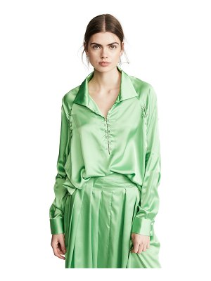 Anais Jourden satin windbreaker blouse