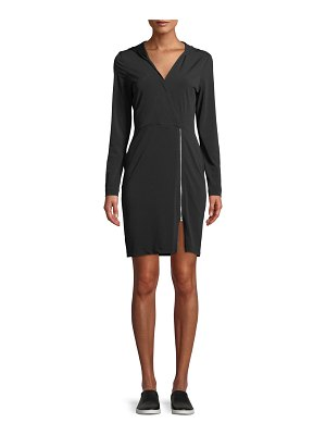 Anatomie Fresia Hooded Jersey Dress with Adjustable Zipper