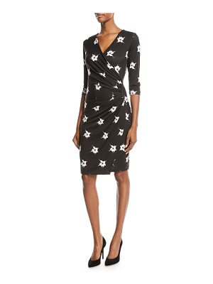 Anatomie Marine Orchid-Print Jersey Wrap Dress
