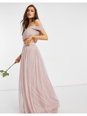 Anaya with love bridesmaid tulle maxi matching skirt in pink