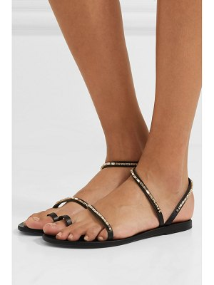 Ancient Greek Sandals apli eleftheria crystal-embellished leather sandals
