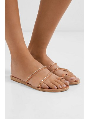 Ancient Greek Sandals apli katia crystal-embellished leather sandals