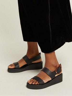 Ancient Greek Sandals clio rainbow leather wedge sandals
