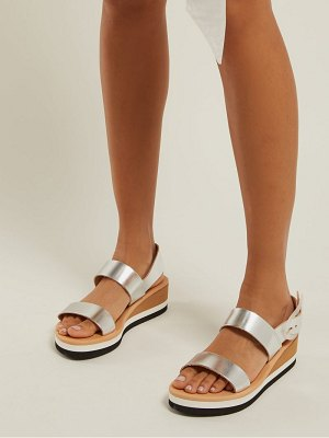 Ancient Greek Sandals Clio Rainbow Wedge Heel Leather Sandals
