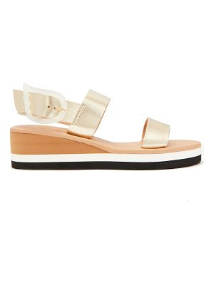 Ancient Greek Sandals Clio Rainbow wedge-heel leather sandals