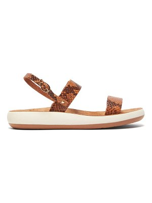 Ancient Greek Sandals clio comfort snake effect leather sandals