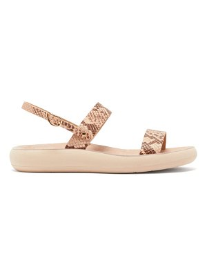 Ancient Greek Sandals clio snake effect leather sandals