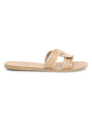 Ancient Greek Sandals desmos flat whipstitch leather sandals
