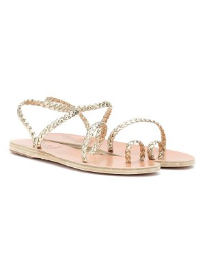 Ancient Greek Sandals eleftheria metallic leather sandals