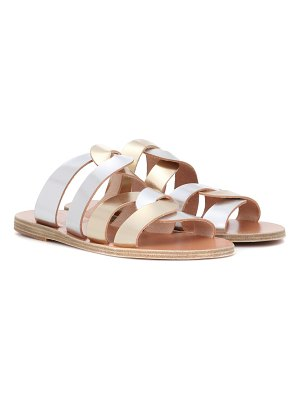 Ancient Greek Sandals Enosi metallic leather sandals