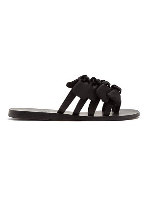 Ancient Greek Sandals hara bow-embellished satin slides