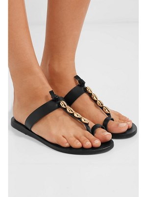 Ancient Greek Sandals iris embellished leather sandals