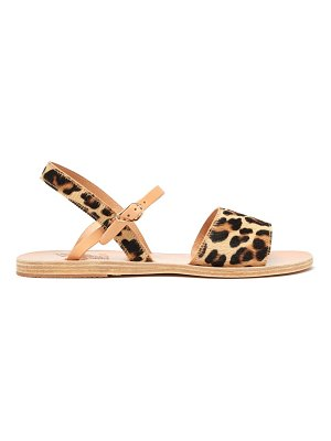 Ancient Greek Sandals kaliroi leopard print calf hair sandals