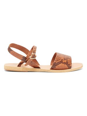 Ancient Greek Sandals kaliroi snake effect leather sandals