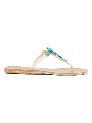 Ancient Greek Sandals lina gemstone-embellished leather sandals