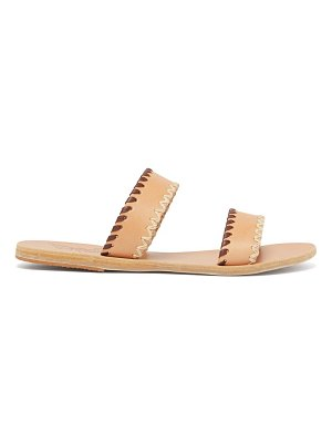 Ancient Greek Sandals melia whipstitched leather slides