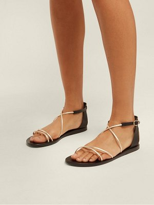 Ancient Greek Sandals Meloivia Cross Strap Leather Sandals