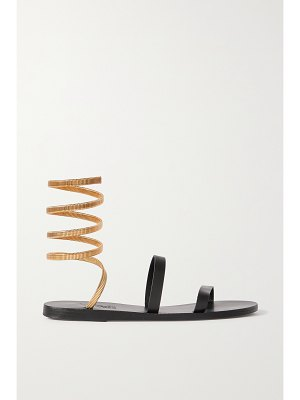 Ancient Greek Sandals ofis cantene chain-embellished leather sandals