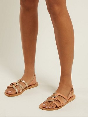 Ancient Greek Sandals Schinousa Entwining Leather Slingback Sandals