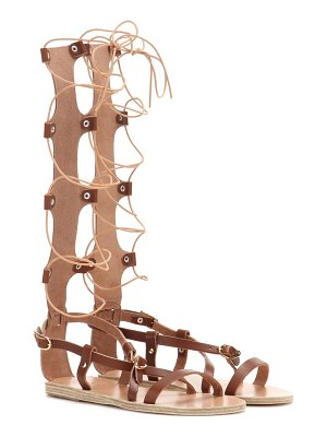 Ancient Greek Sandals Sofia High leather gladiator sandals
