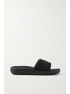 Ancient Greek Sandals synefoula quilted leather slides