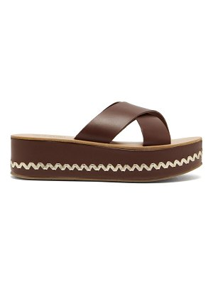 Ancient Greek Sandals thais leather platform sandals