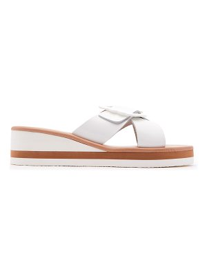 Ancient Greek Sandals Thais Rainbow leather wedge sandals