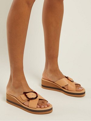 Ancient Greek Sandals Thais Rainbow Leather Wedges