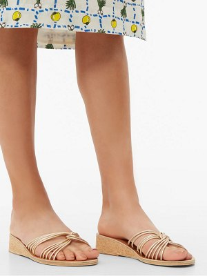 Ancient Greek Sandals xanthi leather wedges