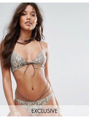 And CO gold lace bralette bikini top