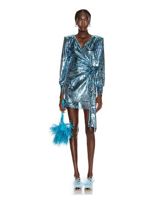 ANDAMANE carly sequins wrap mini dress