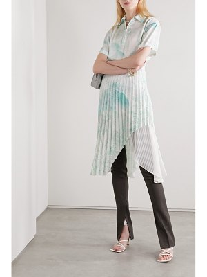 Andersson Bell asymmetric layered printed satin and crepe de chine midi dress