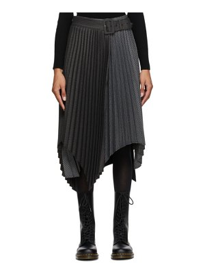 Andersson Bell brown and blue ingrid double skirt
