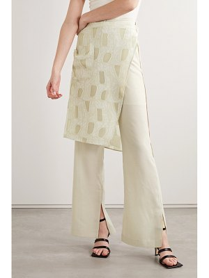 Andersson Bell celia layered woven and fil coupé gauze flared pants