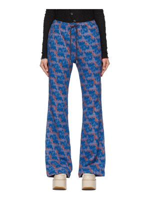 Andersson Bell contrast pattern kendra lounge pants