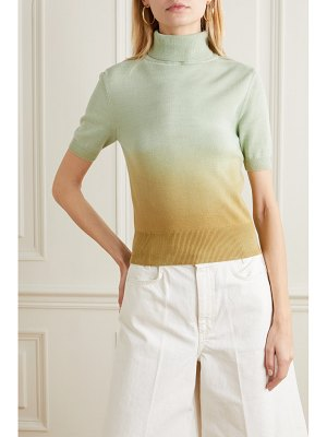 Andersson Bell erin tie-dyed cotton turtleneck sweater