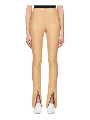 Andersson Bell flared zipper trousers